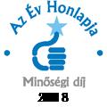 Az év honlapja minőségi díj 2018