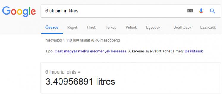 google_mértékegységátváltás_keresés