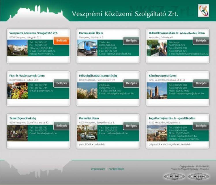 A második vkszrt.hu honlap