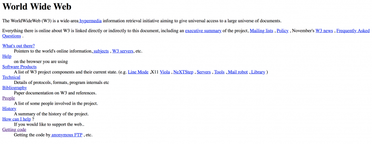 A világ első honlapja
