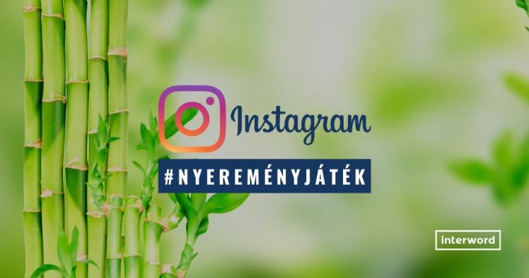Szabályos Instagram nyereményjáték