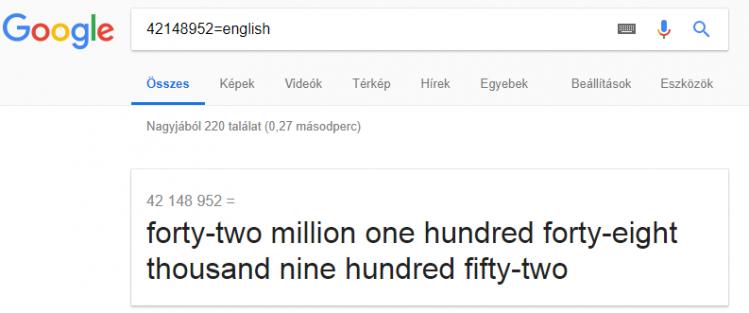 google keresés_számok helyes kiejtése
