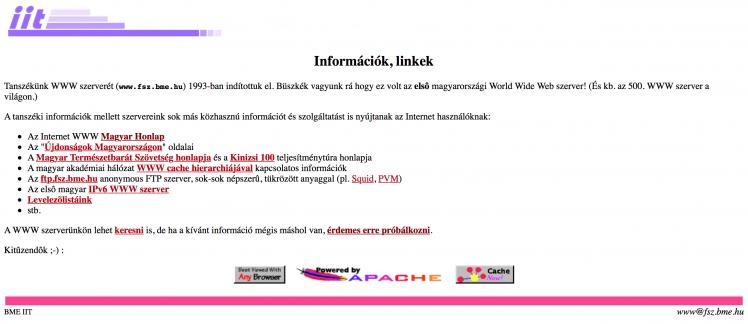 Első magyar honlap